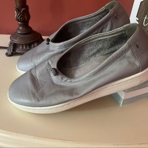 Eileen Fisher grey loafers